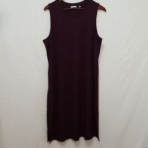 NWOT Reitman's Sleeveless Plum Fitted Dress